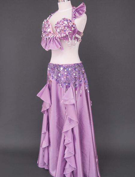 ピンクパープル ベリーダンス衣装5 ミラーナ
