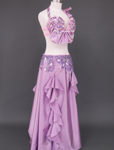 ピンクパープル ベリーダンス衣装7 ミラーナ