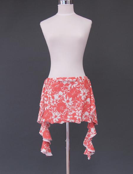 サーモンピンクヒップスカーフ1 ミラーナベリーダンス衣装