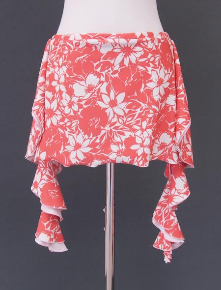 サーモンピンクヒップスカーフ2 ミラーナベリーダンス衣装