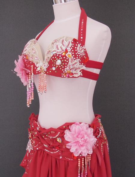 ピンクコサージュ ベリーダンス衣装4 ミラーナ