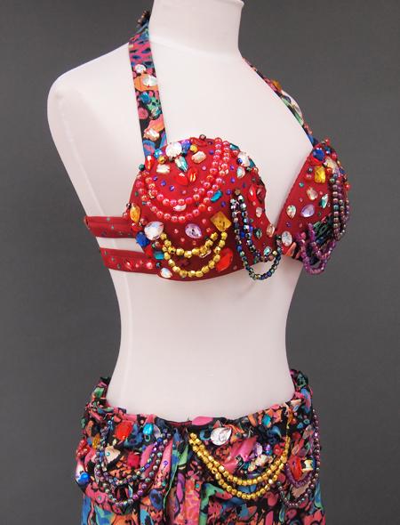 カラフル花柄ベリーダンス衣装6 ミラーナ