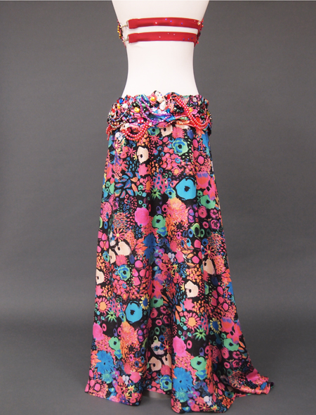 カラフル花柄ベリーダンス衣装7 ミラーナ