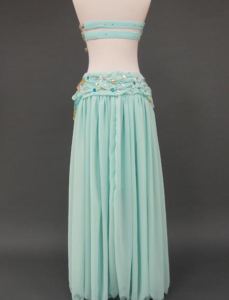 ミントグリーン2_6 ミラーナベリーダンス衣装