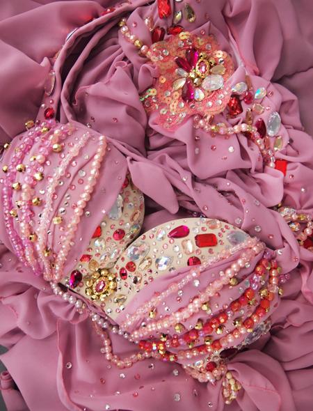 ドレープピンクベリーダンス衣装  ヨリ ミラーナ