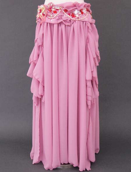 ドレープピンクベリーダンス衣装3 ミラーナ
