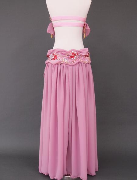 ドレープピンクベリーダンス衣装8 ミラーナ