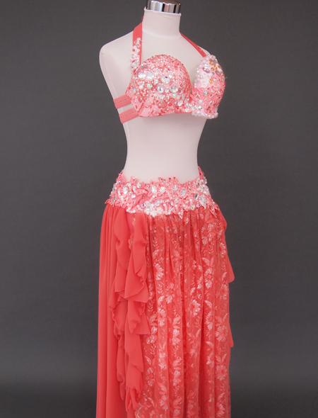 オレンジピンクベリーダンス衣装7 ミラーナ