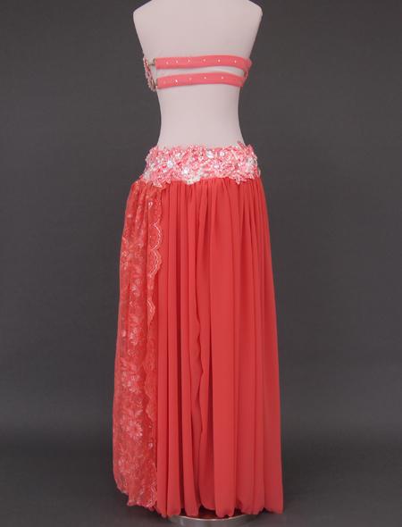 オレンジピンクベリーダンス衣装8 ミラーナ