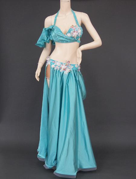 グリーンドレープ衣装 ミラーナベリーダンス衣装