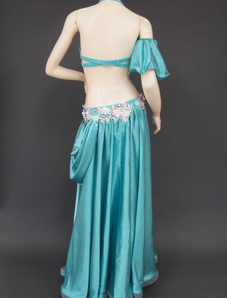 グリーンドレープ衣装6 ミラーナベリーダンス衣装