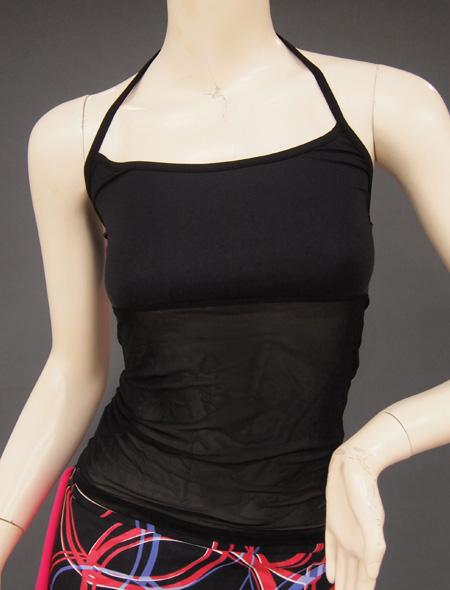 黒シースルーキャミ ミラーナベリーダンス衣装
