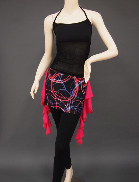 黒シースルーキャミ2 ミラーナベリーダンス衣装