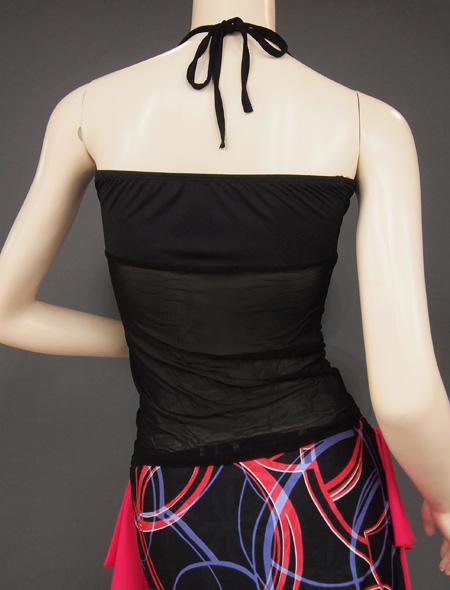黒シースルーキャミ3 ミラーナベリーダンス衣装