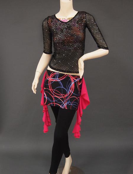 シースルーラメトップス1 ミラーナベリーダンス衣装