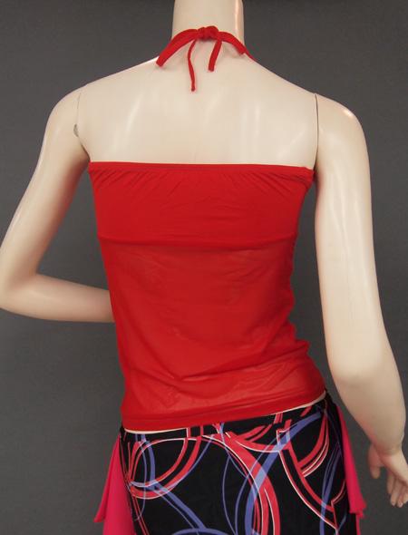 赤シースルーキャミ3 ミラーナベリーダンス衣装