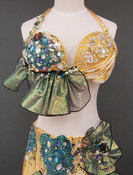 ゴールドベリーダンス衣装3 ミラーナ