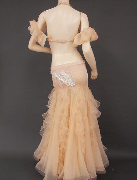 ベージュフリル6 ミラーナベリーダンス衣装