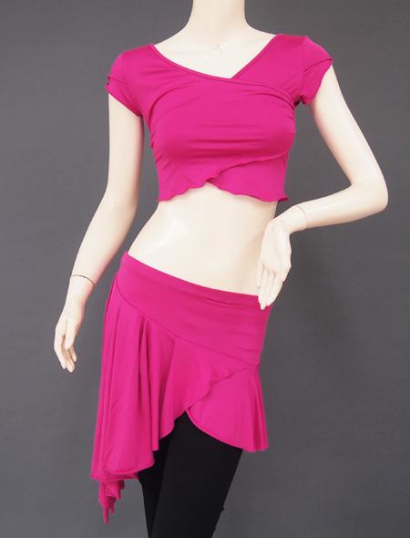 ピンクパープルレッスンウェア2 ミラーナベリーダンス衣装