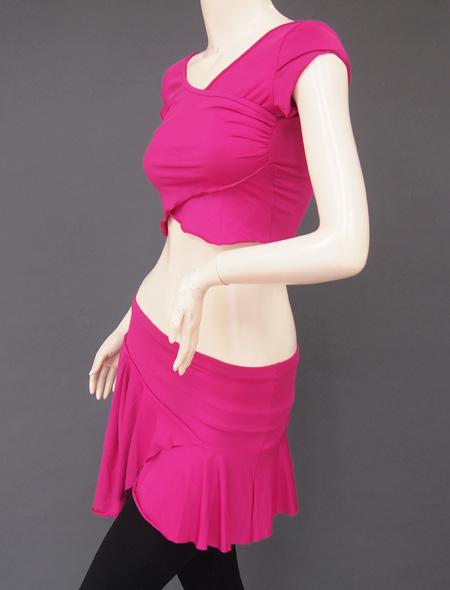 ピンクパープルレッスンウェア3 ミラーナベリーダンス衣装