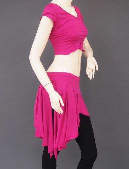 ピンクパープルレッスンウェア4 ミラーナベリーダンス衣装