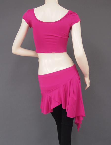 ピンクパープルレッスンウェア5 ミラーナベリーダンス衣装