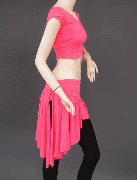 ピンクレッスンウエア4 ミラーナベリーダンス衣装