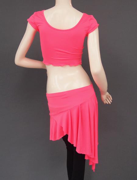 ピンクレッスンウエア5 ミラーナベリーダンス衣装