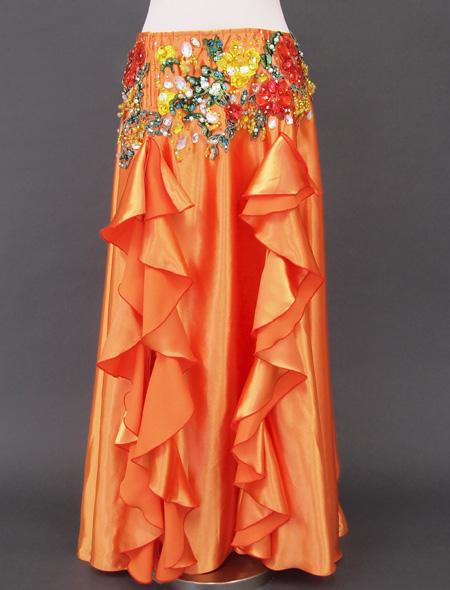 オレンジゴールド花モチーフ ベリーダンス衣装3 ミラーナ