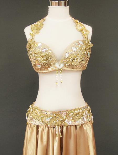ゴールドベリーダンス衣装 ヨリ