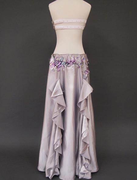 シルバーベリーダンス衣装 バックスタイル