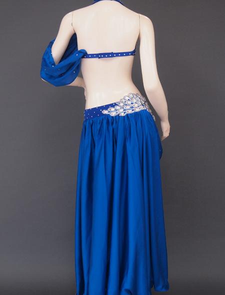 深みのあるブルー衣装6 ミラーナベリーダンス衣装