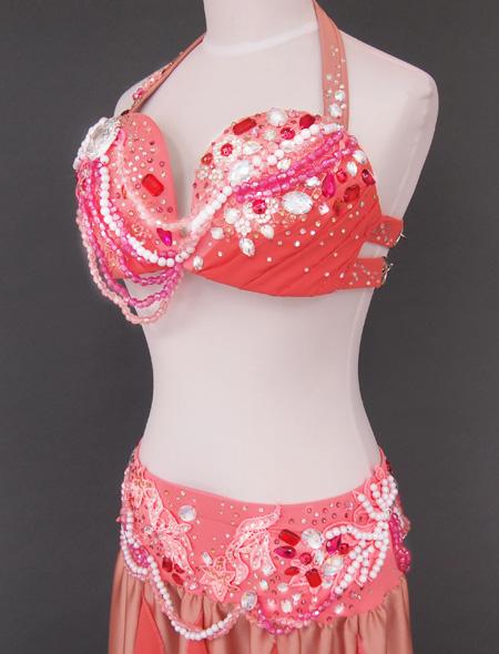 シャンパーニュピンク衣装4 ミラーナベリーダンス衣装
