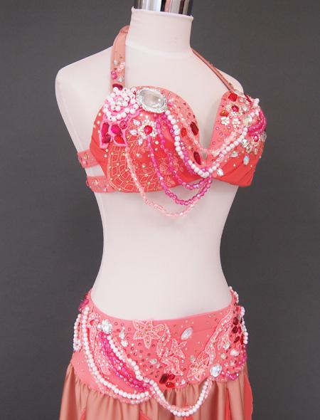 シャンパーニュピンク衣装6 ミラーナベリーダンス衣装