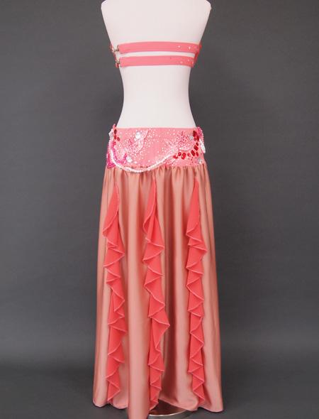 シャンパーニュピンク衣装7 ミラーナベリーダンス衣装