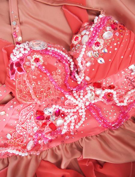 シャンパーニュピンク衣装8 ミラーナベリーダンス衣装