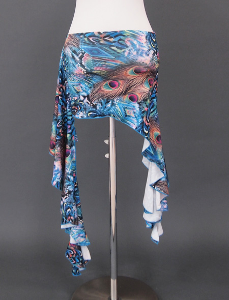 ブルー孔雀ウエアセット3 ミラーナベリーダンス衣装