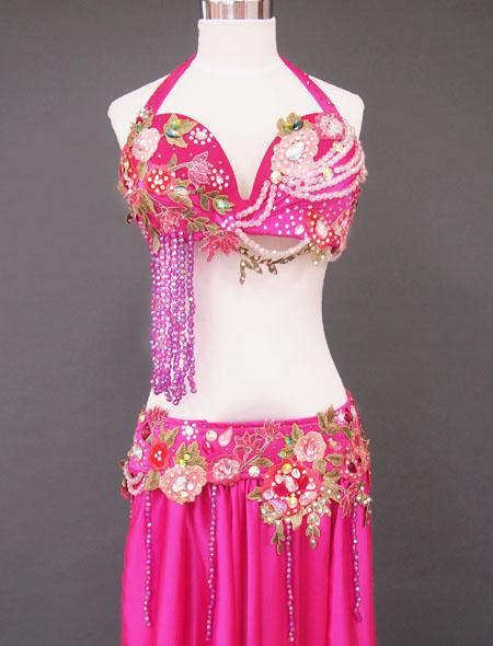 ピンク花ベリーダンス衣装2 MiLLANA