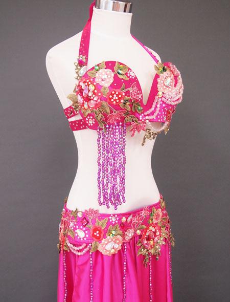 ピンク花ベリーダンス衣装5 MiLLANA