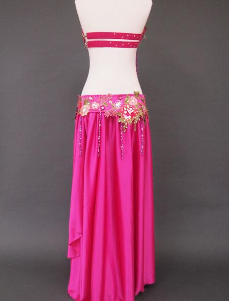 ピンク花ベリーダンス衣装6 MiLLANA
