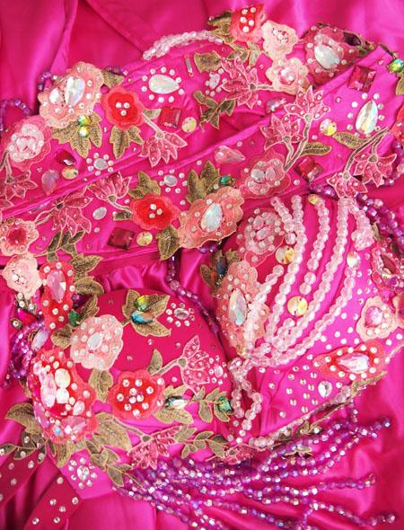 ピンク花ベリーダンス衣装7 MiLLANA