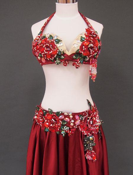 赤薔薇ベリーダンス衣装2 ミラーナ
