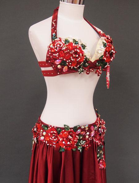 赤薔薇ベリーダンス衣装4 ミラーナ