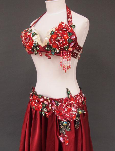赤薔薇ベリーダンス衣装5 ミラーナ