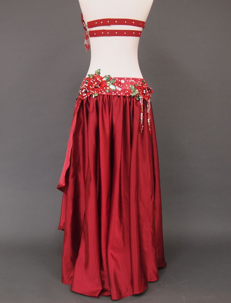 赤薔薇ベリーダンス衣装6 ミラーナ