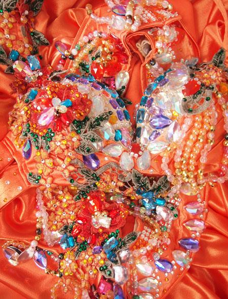 オレンジカラフルヨリ MiLLANAベリーダンス衣装