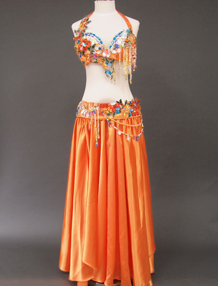 オレンジカラフル1 MiLLANAベリーダンス衣装