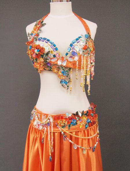 オレンジカラフル2 MiLLANAベリーダンス衣装