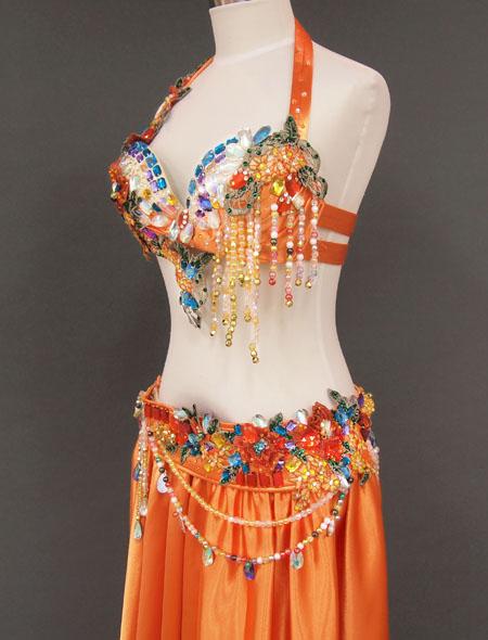 オレンジカラフル4 MiLLANAベリーダンス衣装