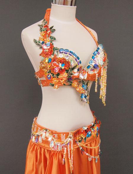 オレンジカラフル6 MiLLANAベリーダンス衣装